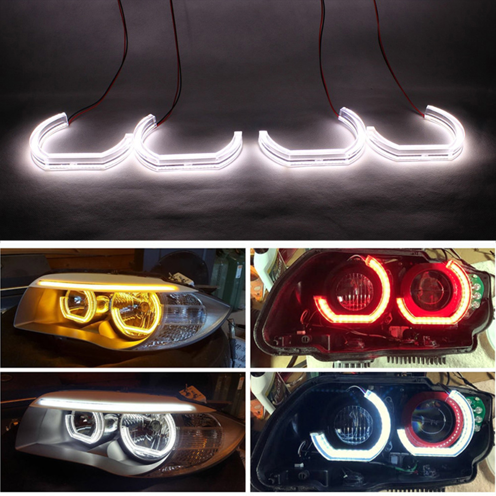 LEEPEE Marker Lights LED Angel Eyes DRL For BMW E90 E92 E93 F30 F35 E60 E53 Car Daytime Running Light Auto Accessories