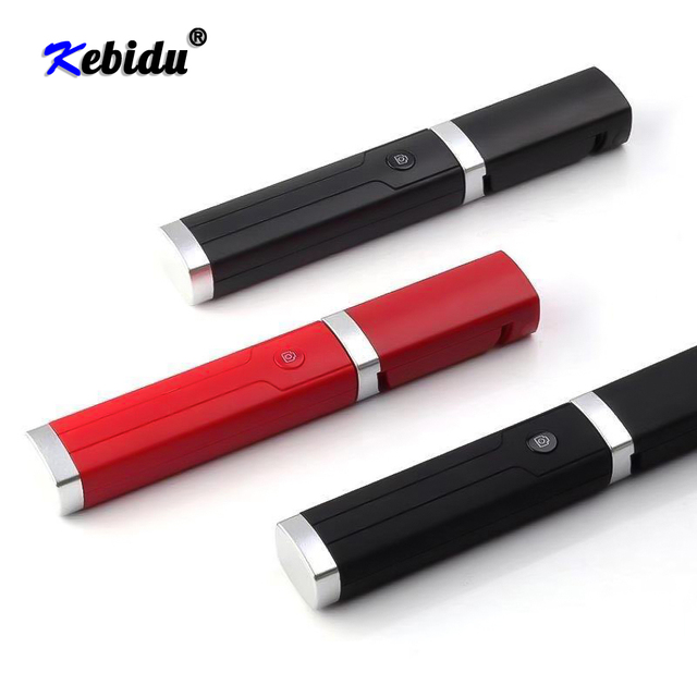 Kebidu Universal Mini Selfie Stick With Button 3.5MM Wired Silicone Handle Monopod For iPhone Android Samsung Huawei Xiaomi