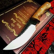 Pegasi huanghua грушевая рукоятка кованый прямой стальной нож
