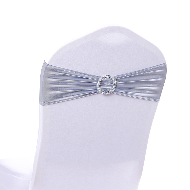 5Pcs Elastic Lycra Stretch Bow Spandex Chair Bands Chair Sashes Wedding Chair Knot Cover For Universal Banquet Chair