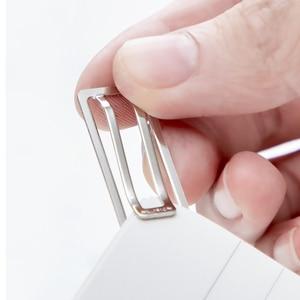 Image 5 - Youpin 10/حزمة صغيرة ورقة كليب SN106 ماكينة ثني معادن القرطاسية شفافة الموثق ورقة كليب صور تذكرة ملاحظة رسالة