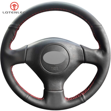 LQTENLEO Black Artificial Leather Steering Wheel Cover For Subaru Legacy Forester Outback Impreza WRX 2003 2007 Saab 9 2X 2005