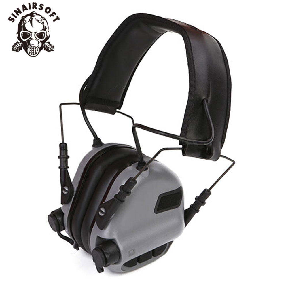 Hot Black Electric Tactical Head-mounted Earmor Hearing Protection Headphones For AEG Paintball Hunting Shooting Accessories