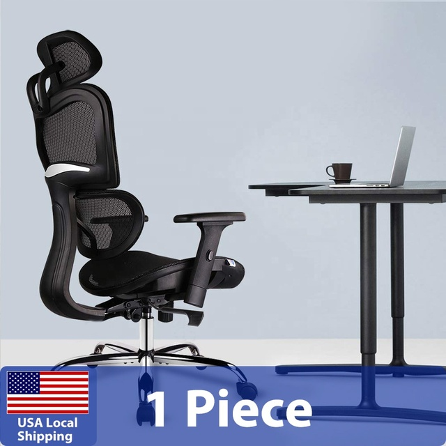SMUGDESK Ergonomics Mesh Computer office Chair High Back Desk Chair with Adjustable Headrest and Armrest 3