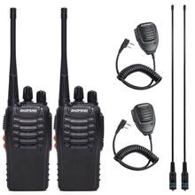 Baofeng BF-888S Talkie-walkie bf 888s 5W radio bidirectionnelle Portable Radio UHF 400-470MHz 16CH Professionnel Pratique Radio(China)