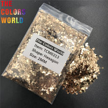 TCM0213 Sand Gold Color Metallic Luster Hexagon Shape Nail Glitter Nail Art Decoration Makeup Body Glitter Handwork DIY(China)