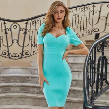 Square Neck Short Sleeve Dress