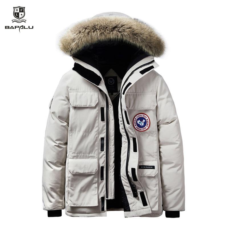 2019 Winter Men New Coat 6XL 7XL 8XL Parka Plus Velvet Thickening Jacket Even Hat Stitching Windbreaker Mens Leisure Warm Coats