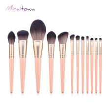 Make-up Kwasten Set Roze Houten Handvat Vrouwen Foundation Make up Borstel Beauty Tools Kit voor Lip Eye Liner maquiagem(China)