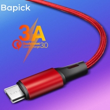 Bapick 1M 2M 3M 0.25M 3A Phone Charger Data Micro USB Cable for Huawei Xiaomi Samsung S8 Android Mobile Cord