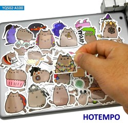 100pcs Cute Cartoon Fat Cats Kawaii Fun Anime Stickers for Children Kid Mobile Phone Laptop Skateboard Stationery Diary Stickers
