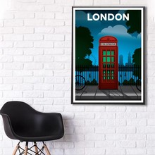 London poster Mexico Poster Home Decoration  Posters  Living room wall art decoration painting city London Paris landscape loqi набор чехлов paris italy london