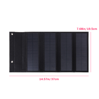 30W Foldable Solar Panel 5V Sun power Solar Cells Bank Pack USB 10in1 USB Cable Waterproof for Phone Backpack Camping Hiking 3