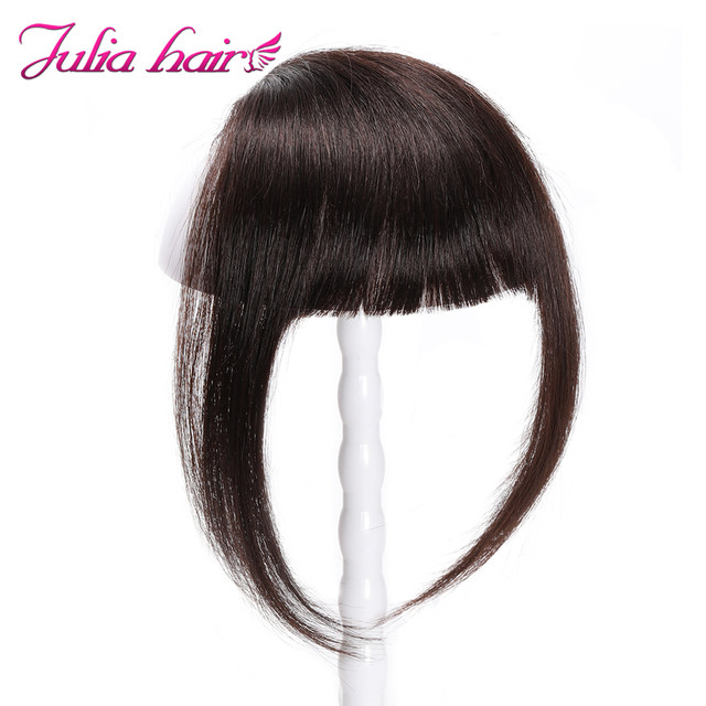 Ali Julia Air Bangs For Women Clip In Hair Extensions Brazilian Human Hair Bangs Remy Replacement Fringe Hairpiece (9)