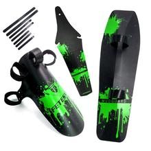 цена на Bicycle Mudguard MTB Mountain Bike Road Bicycle Front Rear Mudguard Fender and Front Clip-on Bicycle Down Tube Fender Set