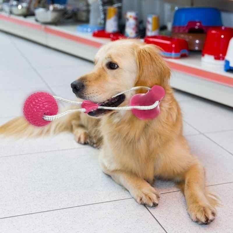 8 سنتيمتر الحيوانات الأليفة لعبة الكلب التفاعلية شفط كأس دفع TPR العاب كروية الحبال المرنة الحيوانات الأليفة تنظيف الأسنان مضغ اللعب IQ علاج جرو اللعب