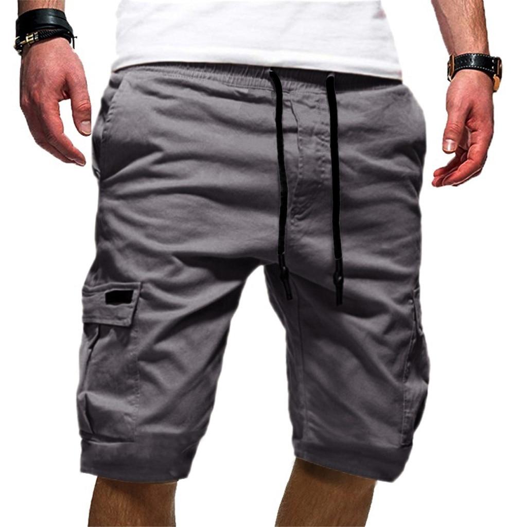 Men/'s Sport Pure Color Outdoor Casual Loose Sweat pants Drawstring Shorts Pant