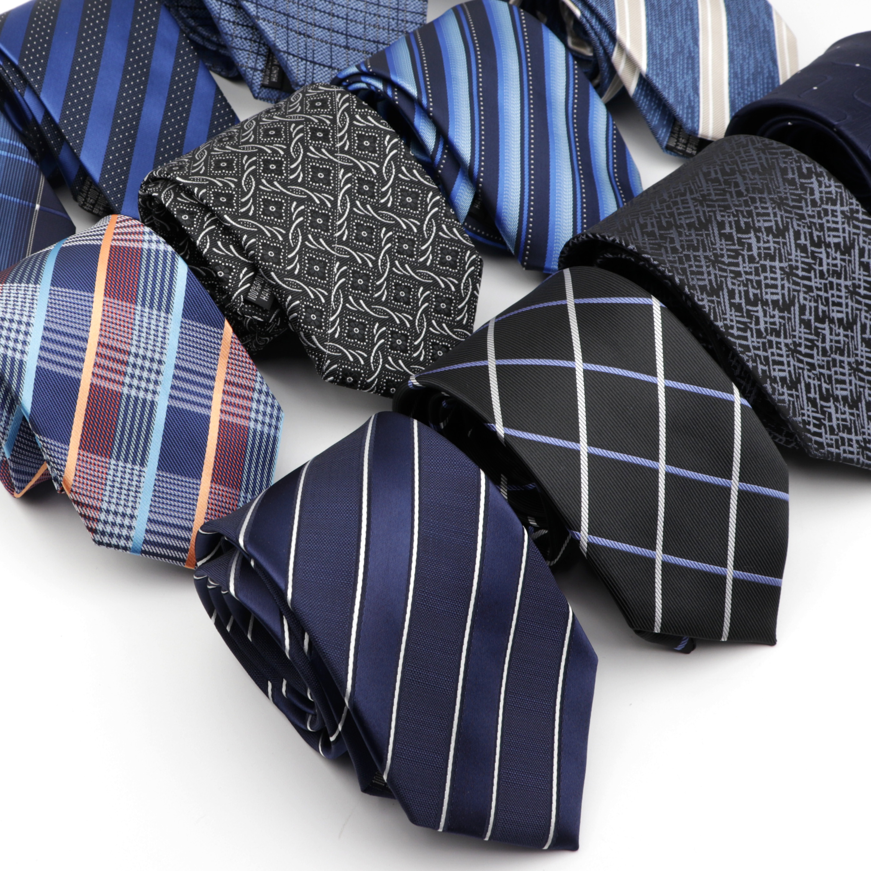 Standard Business Men's Tie Formal Striped Ties Dot Jacquard Wedding Necktie 8CM Width Classic Neckwear Gravata 1200 Needles