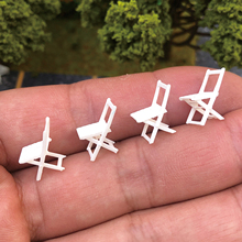 4 Pieces 1:64 Scale Mini Tiny Chairs Building Sand Table Layout Scenario