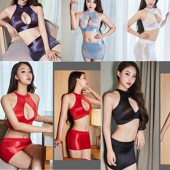 DROZENO-Conjunto de 2 unidades de lencería Sexy para mujer, traje de baño...