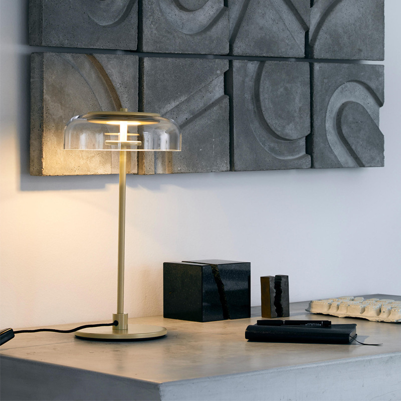 Modern nordic Glass ball table lights Retro Vintage desk Lamp E27 Loft for bedroom beside lamp gold black EU plug