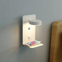 Светодиодные Настенные светильники для комнаты рядом с usb модные