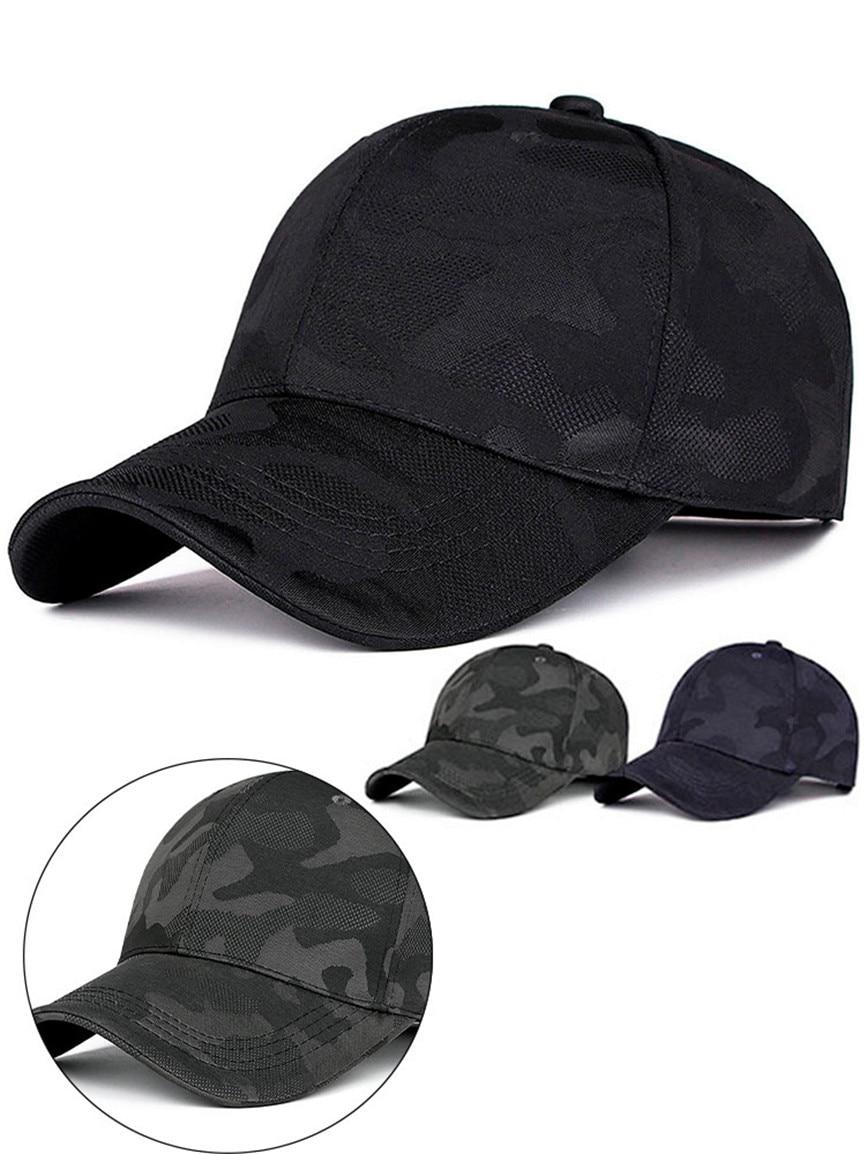Hombres Strapback Camuflaje Negro Pattern Jeans Snapback Gorra Visor Unisex