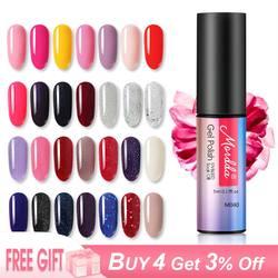 MORDDA 5 мл; Гель-лак для ногтей лак для маникюра УФ светодиодный 60 цветов лак для ногтей Гибридный Полупостоянный гель лак для дизайна ногтей
