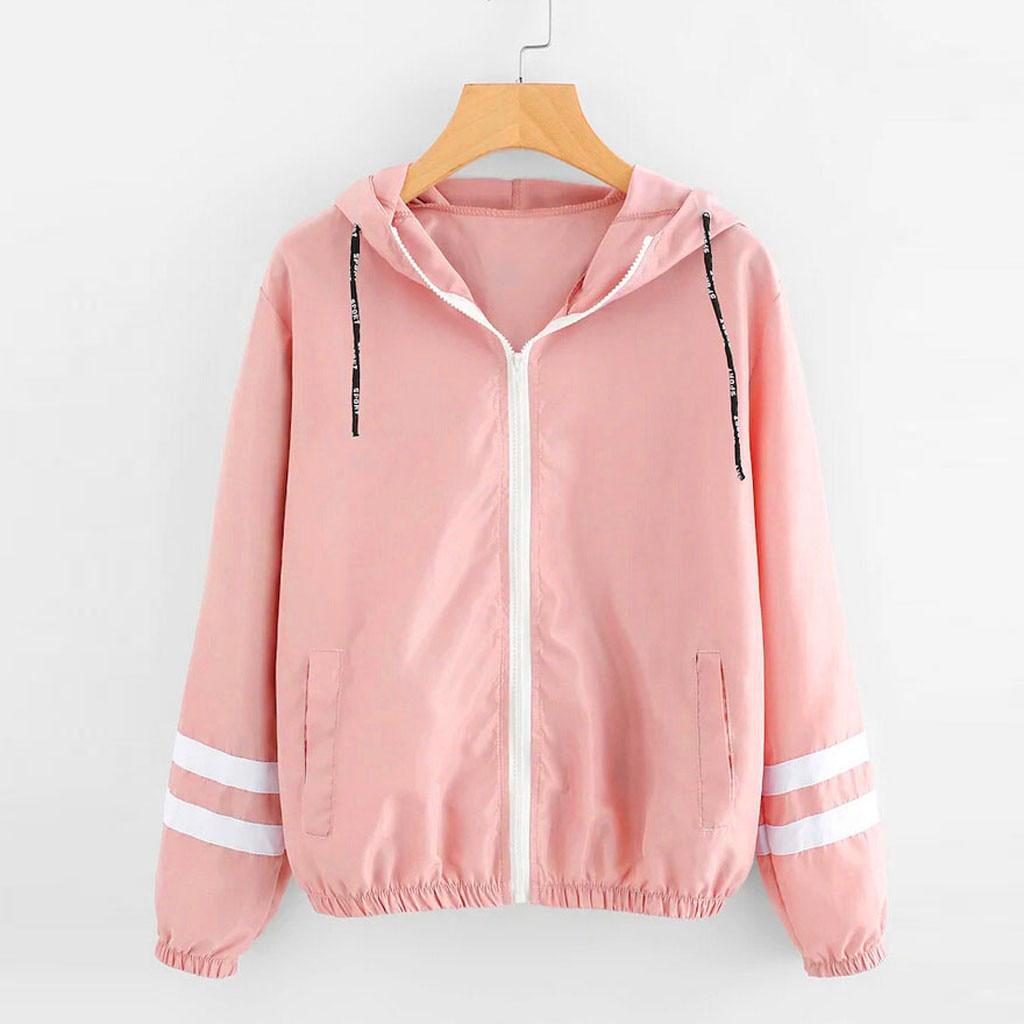 Jacket Women Long Sleeve Patchwork Thin Skinsuits Hooded Zipper Pockets Coat Moletom Feminino Inverno Coats And Jackets Women