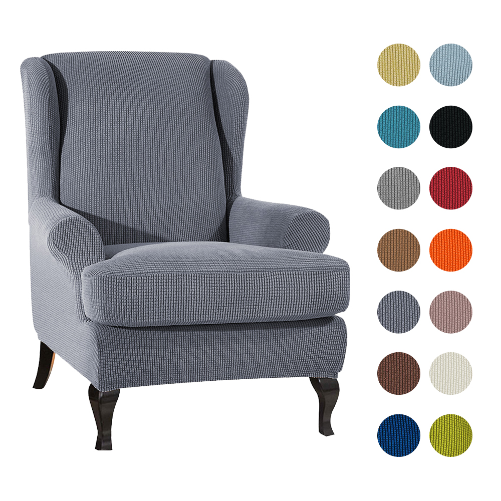 Arm King Back Chair Cover Elastic Armchair Wingback Wing Sofa Back Chair Cover Stretch Protector SlipCover Protector