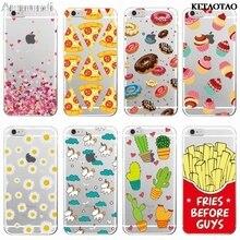KETAOTAO Nette Donuts Frites Vor Jungs Herzen Einhorn Pizza Telefon Fällen für iPhone 4S 5C Fall Kristall Klar Weichen TPU Abdeckung Fällen