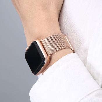 Dla Apple Watch seria 6 zespół SE 44mm 40mm iWatch 5 4 Milanese pasek dla Applewatch 42mm 38mm iWatch 3 bransoleta ze stali nierdzewnej tanie i dobre opinie CN (pochodzenie) 18cm Paski do zegarków W stylu mediolańskim PG204 Clasp Stainless Steel Milanese Loop Watch Strap For Apple Watch 6 Band