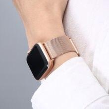 Para apple assistir série 6 banda se 44mm 40mm iwatch 5 4 milanese cinta para applewatch 42mm 38mm iwatch 3 pulseira de aço inoxidável
