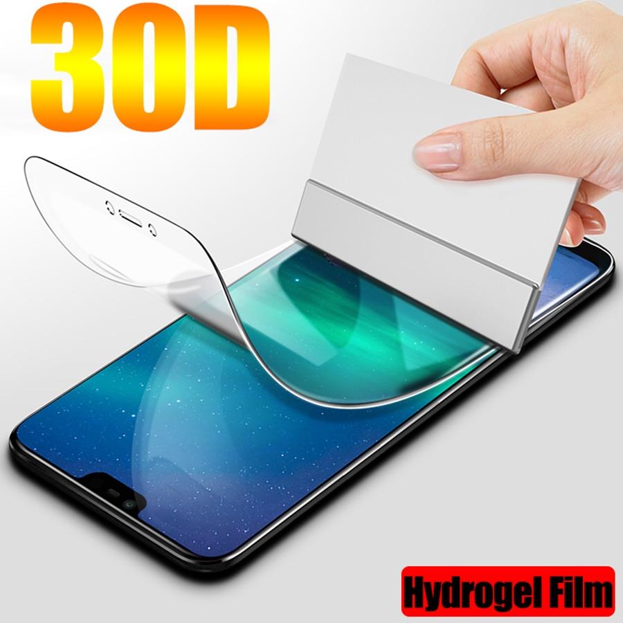 Película de hidrogel 30d para proteção nokia, 7.2, 7.1, 6.1, 5.1, 3.1, 7 plus, 8.1, 6.2, protetor de tela completa filme adesivo não vidro