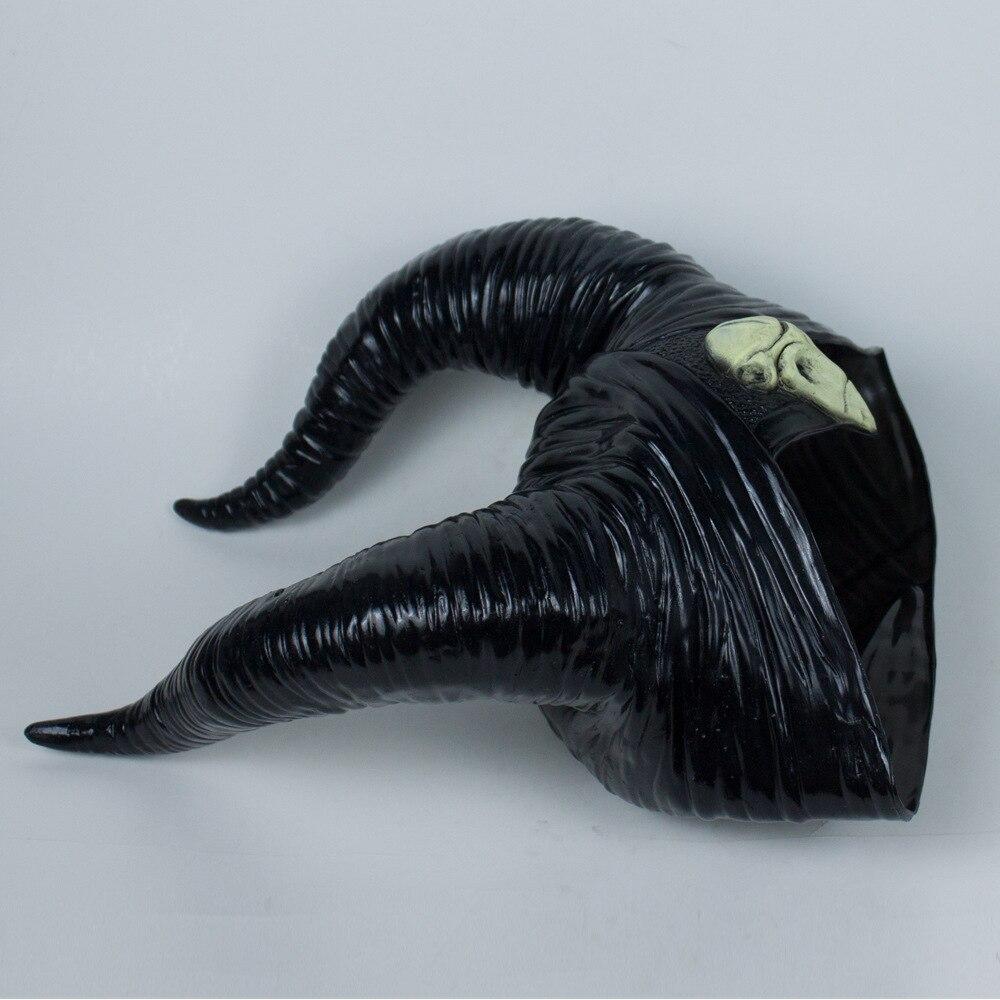 Maleficent: любовница злой ведьмы рога головной убор Маска Косплей Черная Королева головной убор взрослые Необычные Вечерние реквизит для Хэллоуина