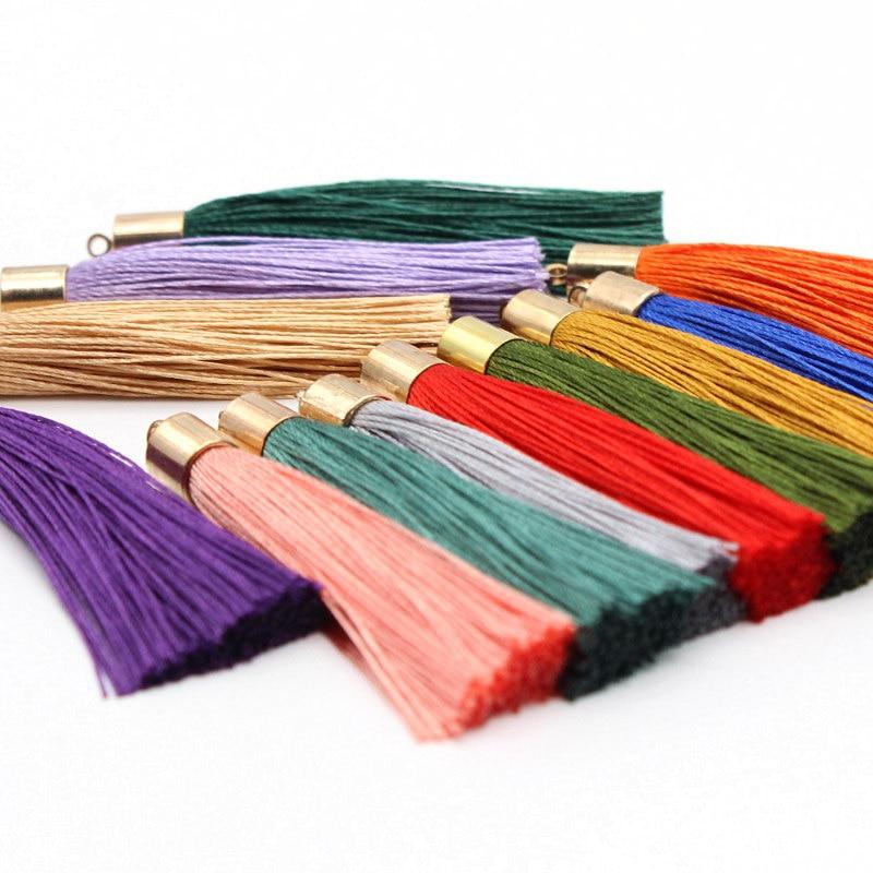10Pcs 55mm Metal Silk thread Vintage Leather Tassels / jewelry accessories / jewelry / earrings craft accessories Decorative