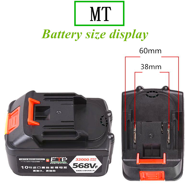 Capacity Lithium Grinder Pack Angle Battery Supply Electric Wrench Battery Rechargeable Battery Lithium Power Large 18650 21V