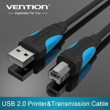 Vention-Cable USB para impresora tipo B macho A macho, Cable USB 2,0 para impresora de etiquetas Canon, Epson, HP, ZJiang