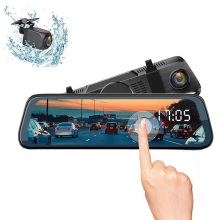 Full HD Car DVR Camera 10 IPS Touch Screen Rear View Mirror Car DVR Mirror Dash Camera Dash Cam Dual Car Camera Drive Recorder jado d800s x6 stream rearview mirror ldws gps track 10 ips touch screen full hd 1080p car dvrs dash cam