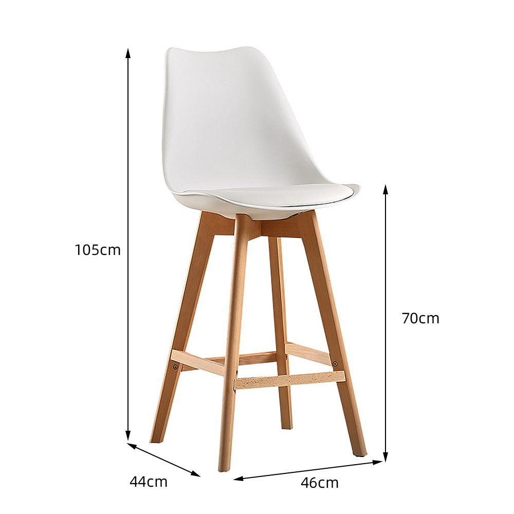 2pc Modern Bar Chair Minimalist Firmly High Stool Wooden Bar Chair Coffee Pub Drinking Barstool Home Funiture Kitchen Chair HWC
