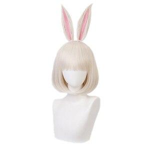 Image 4 - Anime BEASTARS Haru Perücke Kaninchen Cosplay Kostüm Synthetische Haar Party Cosplay Perücken
