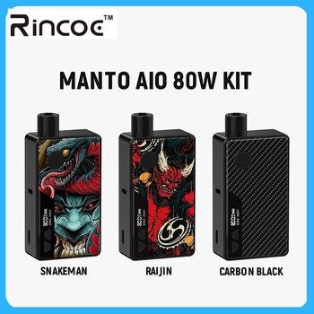 цена на Original Electronic Cigarette Rincoe Manto AIO 80W Pod Mod Kit powered by single 18650 battery with max 80W output vape kit