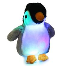 Bstaofy Stuffed Gift Soft LED for Kids Toddlers on Birthday Holiday Glow-Gray Penguin