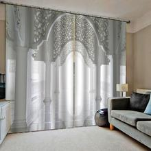 Extended space 3D Window Curtains Living Room wedding bedroom Cortinas Drapes white roman curtains