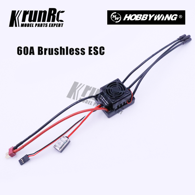 60A Waterproof ESC 2S 3S SBEC 6V/3A Brushless Lipo NiMH Fits 540Motor For 1/10 Scale Models Remote Control RC Car WP-10BL60-RTR