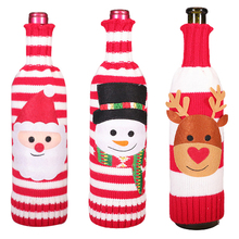 Cover Christmas-Wine-Bottle-Sets Gift Package Cloth for New-Year Dinner Party-Accessories