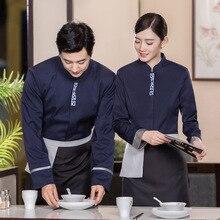 Hotel Uniform Resurante Kellner Uniform Frauen Chinesischen Cafe Chef Jacke Männer Teehaus Mitarbeiter Arbeiten Tragen Lebensmittel Sevice Kellnerin Uniform