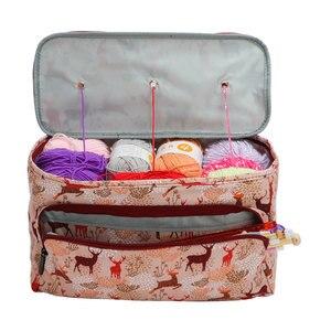 Image 3 - Looen 11 スタイル糸ニットdiyの針芸術クラフトホルダートートオーガナイザー収納かぎ針バッグ空の正方形の収納バッグ