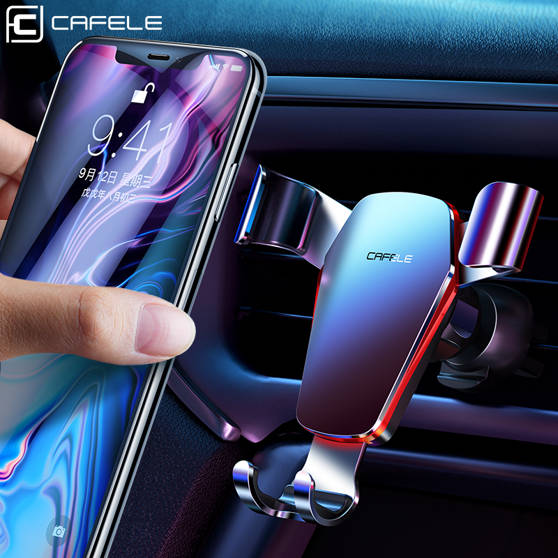 Cafele Gravity Car Phone Holder For Car CD Slot Air Vent Mount Phone Holder Stand For IPhone Samsung 360 Rotation  Cell Support