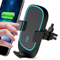 15W Qi Car Wireless Charger Phone Holder For iPhone XS MAX XR X 8 Automatic Sensor Car Air Vent Mount Stand For Samsung Note10+